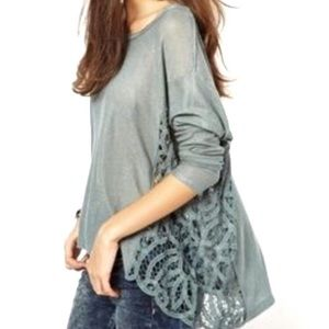 Free People Love Me Do Pullover Tunic Crochet